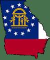 flag map on Georgia