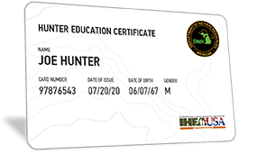 Michigan hunter education certificate