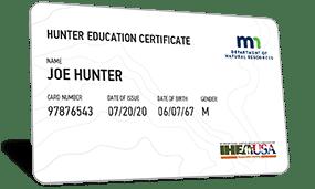 Minnesota hunter education certificate