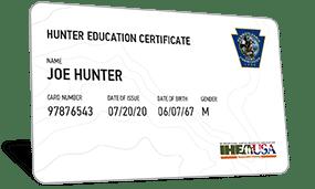 Pennsylvania hunter education certificate