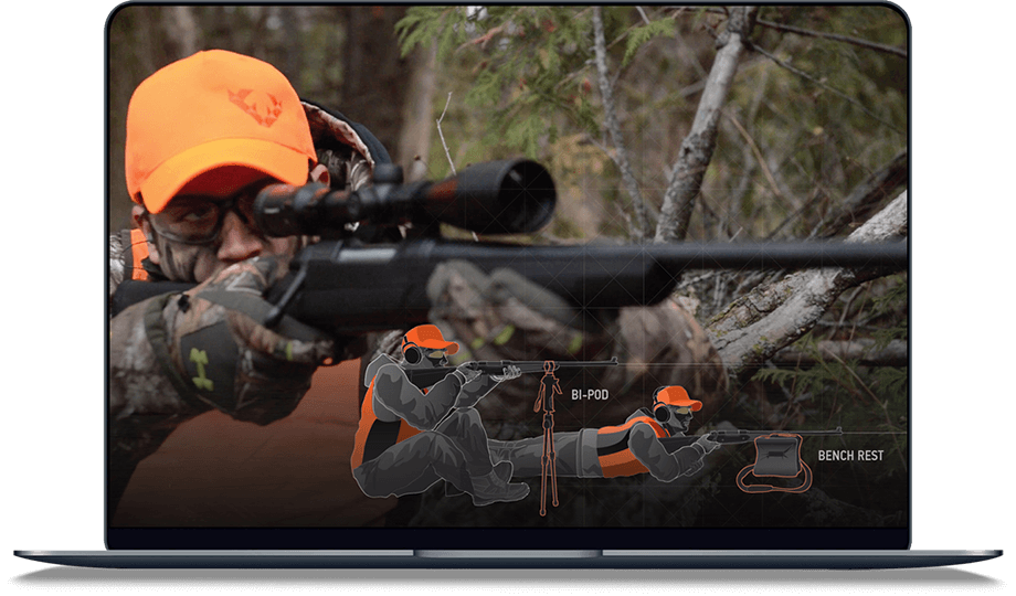 The HUNTINGsmart! course on a laptop