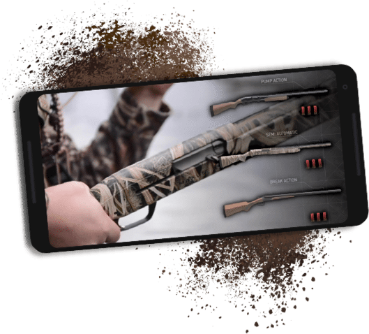 HUNTINGsmart! firearms course content on screen of mobile device